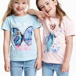 2 футболки H&M принт Disney 98/104 оригинал Акция