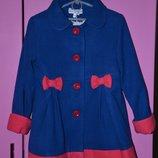 Кашемировое пальто на девочку есть разные р. 92-128