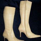 Элегантные кожаные сапожки Minette р. 37 по стельке 24 см. Англия.