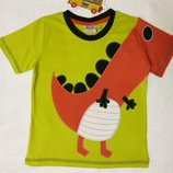 Детская футболка для мальчика с динозавром Nova, дитяча футболка для хлопчика, хлопок, бавовна