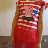 Детская туника для девочки с Пеппой/ туніка для дівчинки, Пепа, дитяча футболка
