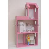Домик для Барби розовый
