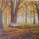 Схема вышивки крестом Осенний парк