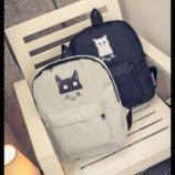 Милые тканевые рюкзаки с котиком