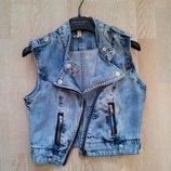 стильная джинсовая жилетка Denim Co 36-38р. 152-159рост