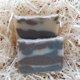 Охлаждающее натуральное мыло - две глины, мята и лайм