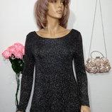 новая удлиненная блуза с красивой спинкой р М-Л