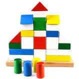 Деревянная пирамидка конструктор Замок. В наличии.