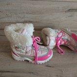 Зимние сапожки на флисе M&S 25, 5 р 8 р 17 см сноубутсы дутики