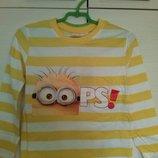Продам футболки/регланы с миньонами на мальчика, р. 98, 104, 128