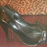 Черные лаковые туфли Next