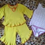 Пижама летняя маечка-трусики комплектом 2-4г