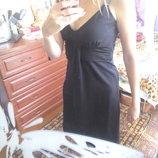 Laura scott evening обалденное коктейльное-вечернее черное платье-миди 44-46р