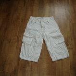 Белые мужские шорты Denim, размер 34, хлопок 100%