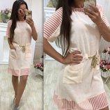 Стильное платья лен