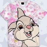 3D футболка Прикольный кролик