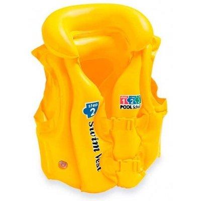 Bestway Надувной жилет Swim Safe, ступень B. 2 быстрорасстегиваемые пряжки. Надувной воротник. 3-6 л