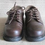 Массивные кожаные темно-коричневые полуботинки Caterpillar. Сша. 38 р.