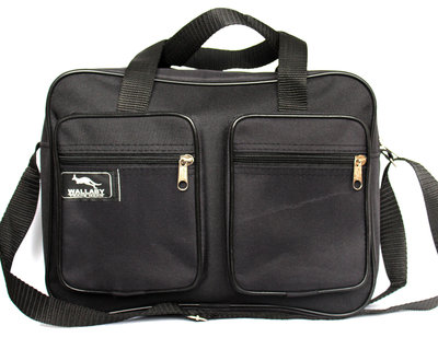 Мужская сумка вместительная 2 в 1 черная 2610