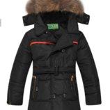 Детский Пуховик Куртка Зимняя На Мальчика, Подростковый