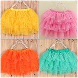 Фатиновые юбочки для девочек р. 100-116 7 расцветок
