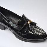 Черные балетки туфли лоферы в Наличии