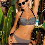 Раздельный Nina Marko bikini элегантный купальник на завязках с оригинальным оформлением -лентой