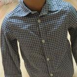 стильная рубашка в клетку H&M 3-4года