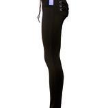 Узкие брюки с люверсами и шнурками, стрейч-эластан