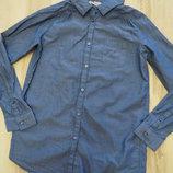 очень легкая котоновая рубашка джинс H&M 11-12лет