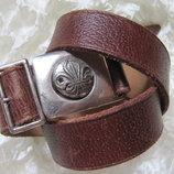 Ремень винтаж коричневый кожаный Scout Assn