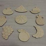 Набор для игры из дерева Фрукты