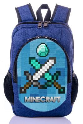 1b30f08eb034 Школьный рюкзак купить принт Майнкрафт Minecraft принт: 490 грн ...