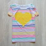 Яркая футболка для девочки или мамы. H&M. Размер 12-14 лет. Состояние новой вещи
