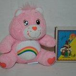 маленький розовый Мишка Care Bears Заботливые мишки с радугой