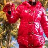 Зимняя куртка на меху для девочки, цвет красный, 168-172
