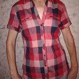 Летняя сорочка в клетку Promod, 100 % хлопок, размер С 38 , наш 44