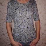 Блуза трикотажная с коротким рукавом H & M, 100 % вискоза, размер С, наш 42-44