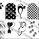 Слайдер, слайдер дизайн, декор для ногтей, нейл-дизайн, водные наклейки для ногтей маникюр