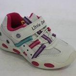 Белые кроссовки для девочки B&G