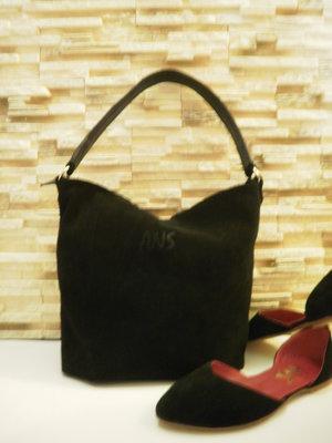 Распродажа стильная сумка-мешок натуральная замша кожа