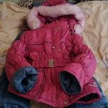Зимовий комбінезон куртка 2-3 роки