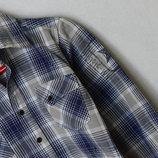 Стильная рубашка в клетку, в клеточку, клетчатая р. 104