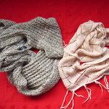Фирменные шарфы хомуты снуды,отличное состояние