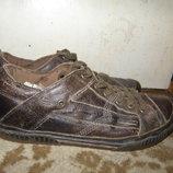 Кожаные туфли кроссовки универсальные кожа 45-46 р
