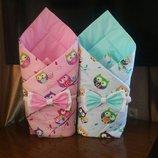 Конверт на выписку, одеяло для новорожденных