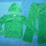 Велюровый спортивный костюм на 6 лет зеленый