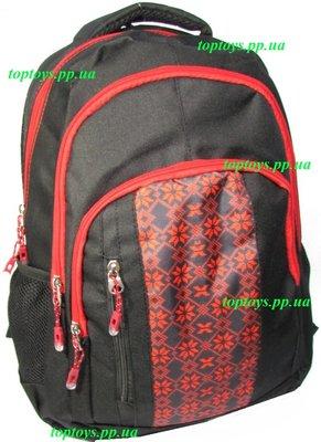 Рюкзак ранец школьный, городской, для средней и старшей школы, студента. Вишиванка.