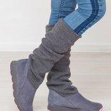 Сапожки - ботинки из натуральной кожи, замши В наличии