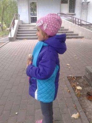 Курточка на девочку 116-128 см